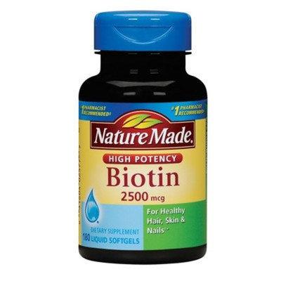 Nature Made 2,500mcg Biotin Liquid Softgels 180 count