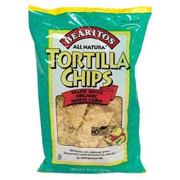 Little Bear Bearitos White Corn Tortilla Chips, 16 Ounce (Pack of 12)
