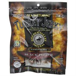 Golden Valley Natural Turkey Jerky Black Pepper - 4 oz