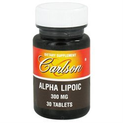 Carlson Laboratories Alpha Lipoic 300 MG - 30 Tablets - Alpha Lipoic Acid