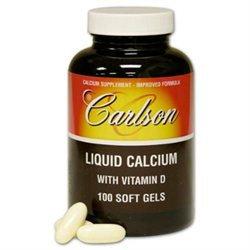 Carlson Labs - Liquid Calcium With Vitamin D - 100 Softgels