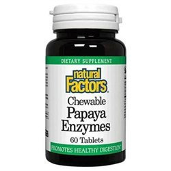 Chewable Papaya Enzymes by Natural Factors - 60 Tablets
