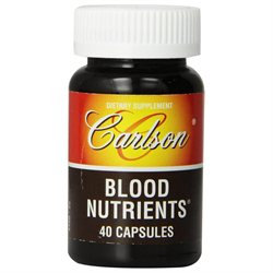 Carlson Labs Blood Nutrient, 40 Capsules [Health and Beauty]