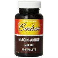 Carlson Laboratories Niacinamide 500 MG - 100 Tablets - Niacinimide