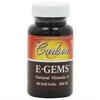 Carlson Laboratories E-Gems 200 IU - 90 Softgels - Vitamin E D'Alpha