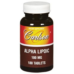 Carlson Laboratories Alpha Lipoic 100 MG - 180 Tablets - Alpha Lipoic Acid