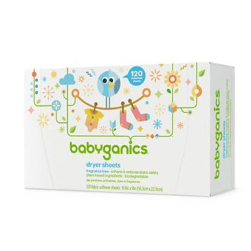 Babyganics Fragrance Free Dryer Sheets - 40 Count