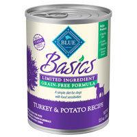 Blue Buffalo Basics Turkey & Potato Canned Adult Dog Food, Case of 12