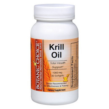 Botanic Choice Krill Oil 1000 mg Dietary Supplement Softgels