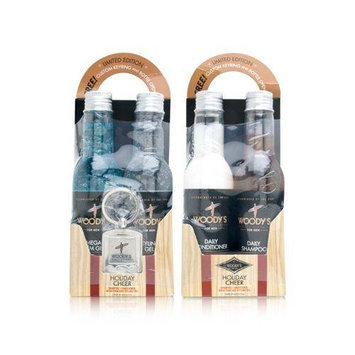 Woody's Quality Grooming Holiday Cheer Shampoo, Conditioner, Mega Firm and Styling Gel Limited Edition
