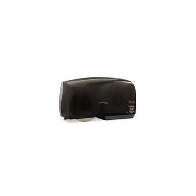 KIMBERLY-CLARK PROFESSIONAL* 09608 IN-SIGHT Coreless JRT Twin Jumbo Roll Tissue Dispenser- 20 x 6 x 11- Smoke