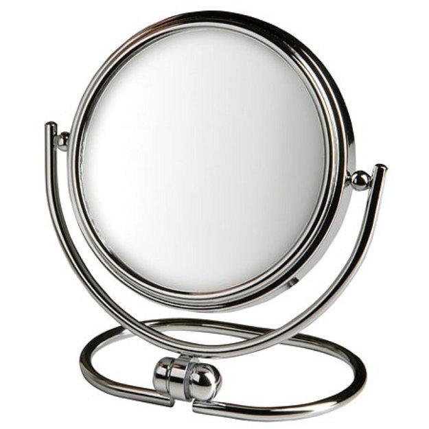Jerdon Folding Travel Mirror with 10x Magnification and Chrome Finish