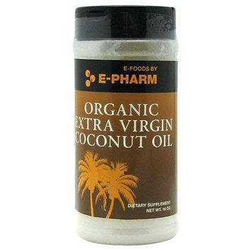 E-PHARM Organic Extra Virgin Coconut Oil, 16 Oz