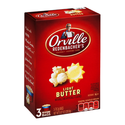 Orville Redenbacher's Gourmet Popping Corn Pop Up Bowl Bags Light Butter - 3 CT