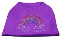 Mirage Pet Products 5268 SMPR Rhinestone Rainbow Shirts Purple S 10