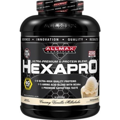 ALLMAX Nutrition HexaPro Creamy Vanilla Milkshake 5.5 lbs. [Creamy Vanilla Milkshake, 5.5lbs]
