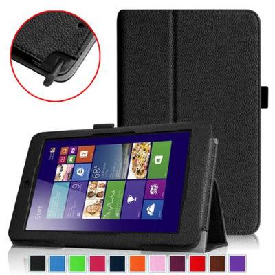 Fintie Folio Leather Case Cover for ASUS VivoTab Note 8 M80TA Tablet (Windows 8.1), Black