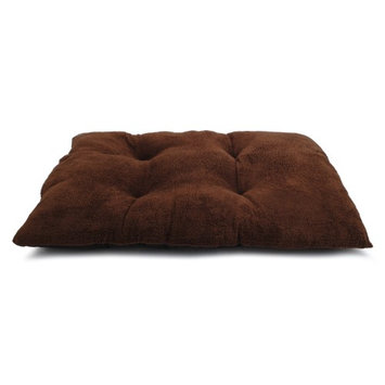 Brinkmann Faux Fur Tufted Kennel Pad Tan, 41L x 26W inches