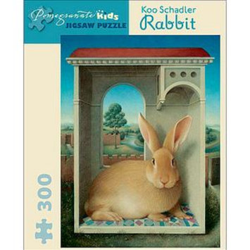 Pomegranate Communications Koo Shadler Rabbit Puzzle 300 Pcs Ages 6+