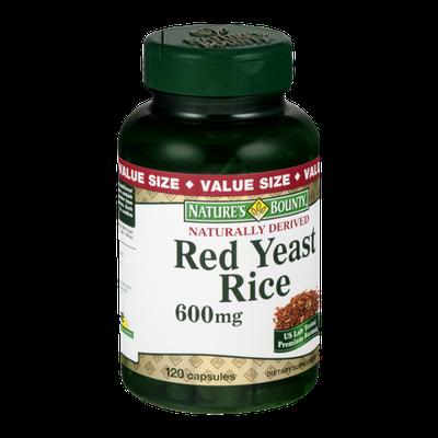 Nature's Bounty Red Yeast Rice 600MG - 120 CT