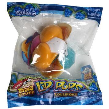 Flix Big Stuff Lip Pops Lollipops, Wild Blue Raspberry, 0.8 oz (23 g)