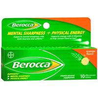 Berocca Mental Sharpness + Physical Energy Orange Flavor Tablets - 10