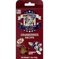 Wet Noses Natural Dog Treat Co Trial Size Cranberry Pawtriot