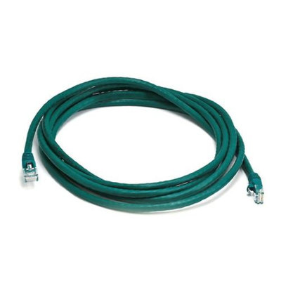 Monoprice 10FT 24AWG Cat5e 350MHz UTP Bare Copper Ethernet Network Cable - Green