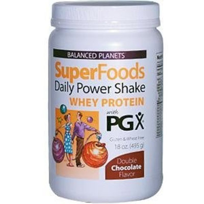 Natural Factors Balanced Planets Superfoods Daily Power Shake, Double Chocolate, 18-Ounce