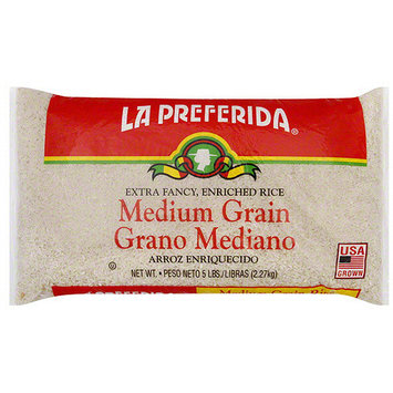 La Preferida Medium Grain Rice, 5 lb (Pack of 6)