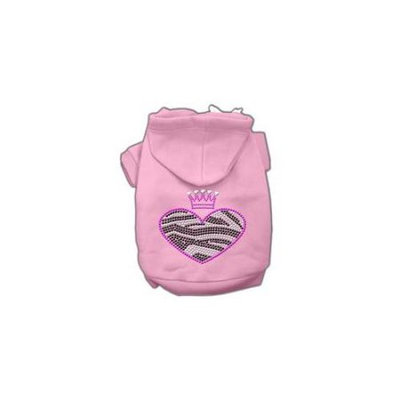Ahi Zebra Heart Rhinestone Hoodies Pink S (10)