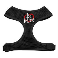Mirage Pet Products 7028 SMBK Be Mine Soft Mesh Harnesses Black Small