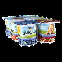 Stonyfield Organic YoKids Blueberry and Strawberry Vanilla Lowfat Yogurt - 6 PK