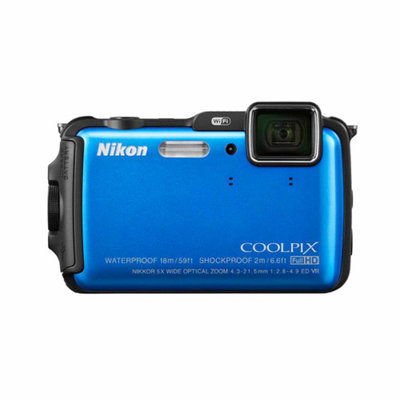 Nikon Blue COOLPIX AW120 Digital Camera with 16 Megapixels and 5x Optical Zoom