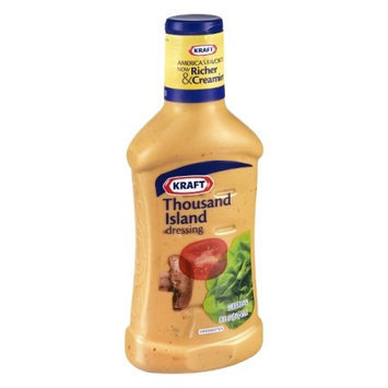 Kraft Salad Dressing 1000 Island Dressing Bottle, 16 FL OZ (Pack of 6)