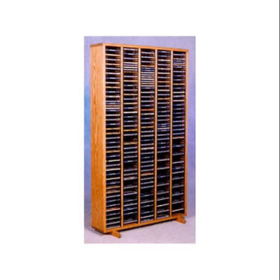 Wood Shed 30.75 in. CD Storage Tower w Individual Locking Slots (Clear)