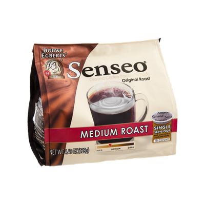 Senseo Medium Roast Ground Coffee Packed In Pods - 18 Pods
