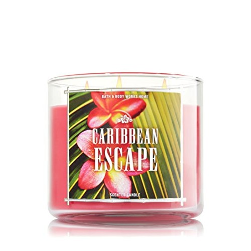 Bath & Body Works 3 Wick Candle 14.5 Oz. Caribbean Escape