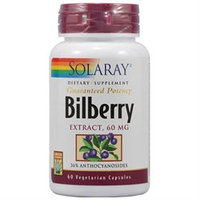 Solaray Bilberry Extract - 60 mg - 60 Vegetarian Capsules