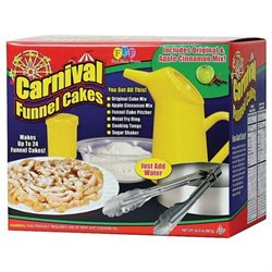 Funnel Cake Starter Kit with Cake Mix, Pitcher and Cake Ring