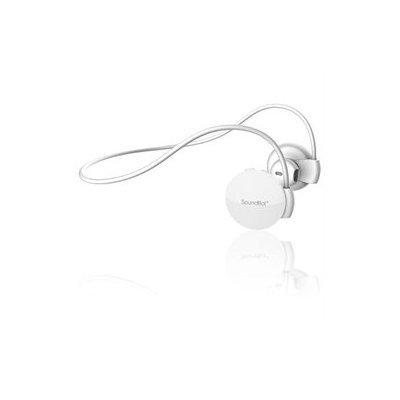 SoundBot SB552 Behind The Neck Bluetooth Stereo Headset w/ Memory Frame White