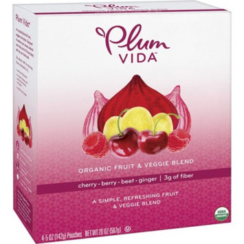 Plum Organics Plum Vida Organic Cherry-Berry-Beet-Ginger Fruit and Veggie Juice