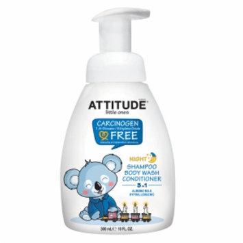 Attitude Little Ones 3 in 1 Shampoo Body Wash Conditioner, Almond Milk, 10 fl oz