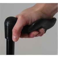 Harvy Unisex Folding Adjustable Shaft Palm Grip Cane Black -Affordable Gift! Item #DHAR-9052808