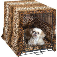Pet Dreams Plush Cratewear Set Leopard Fits 19-Inch Crates