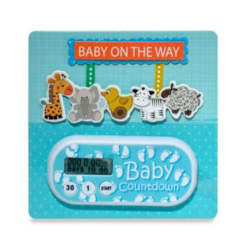 Timeflyz Countables Baby Due Timer: Blue Animal Mobile