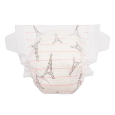 The Honest Co. Honest Diapers - Size NB (up to 10lbs) - Eiffel Tower Stripe