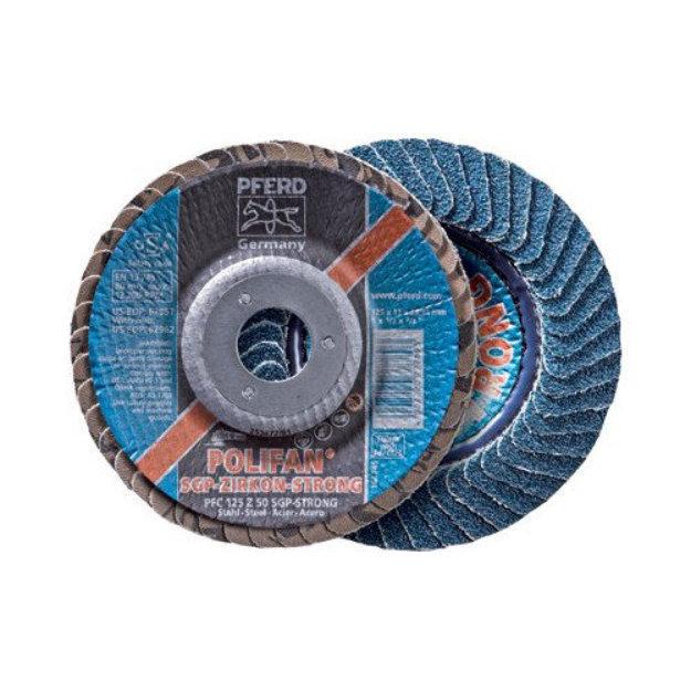 """Pferd Pferd - Polifan Flap Discs 4-1/2"""" X 7/8"""" Polifan Strong Flap Disc - Sgp C: 419-62945 - 4-1/2"""" x 7/8"""" polifan strong flap disc - sgp c"""