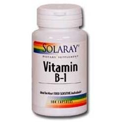 Solaray Vitamin B-1 - 100 mg - 100 Capsules