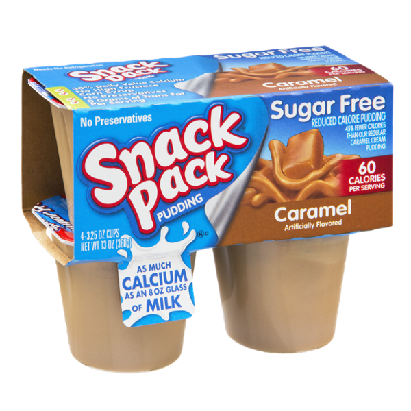 Snack Pack Sugar Free Caramel Pudding - 4 PK